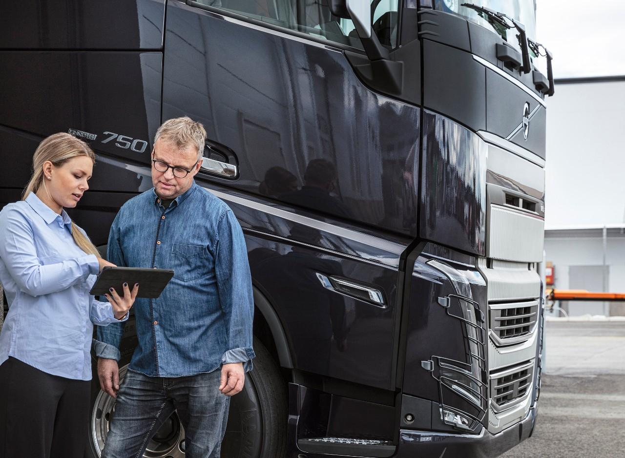 Werk op de laptop met Volvo Connect