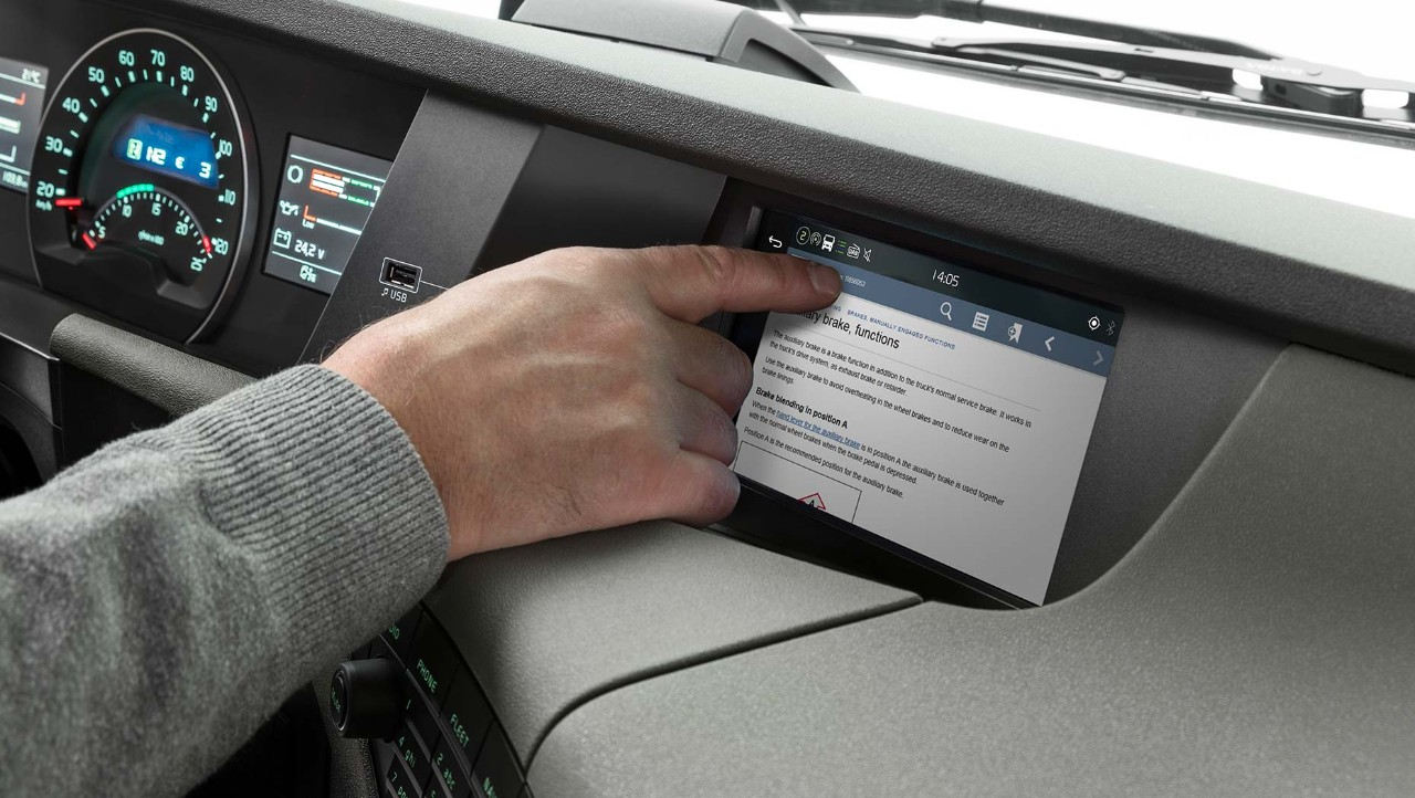 Volvo Trucks Driver's Handbook integrated display